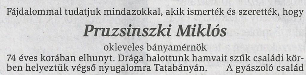 Pruzsinszki M