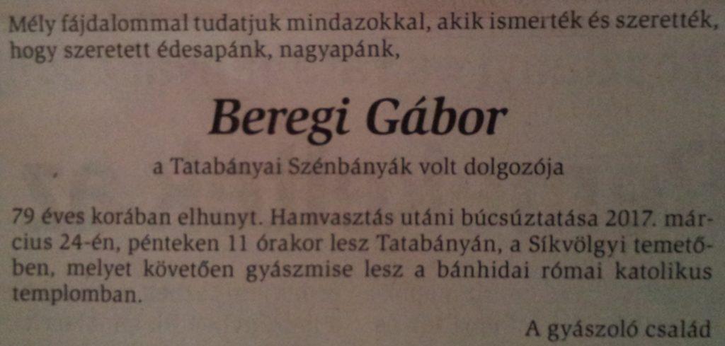 Beregi Gábor