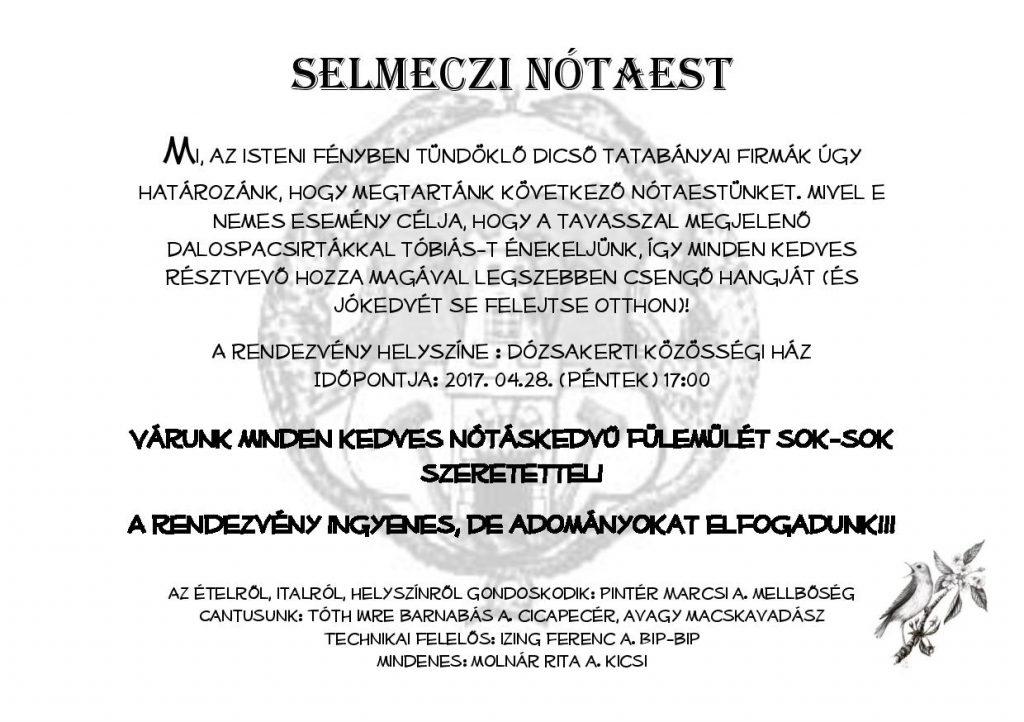 Selmeczi Nótaest Invitáczió_20170428